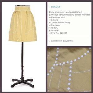 Anthropologie Floreat Enchanted Beans Skirt Yellow